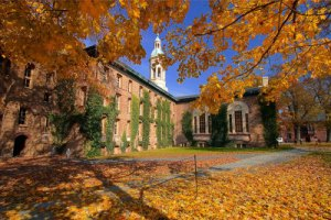 Princeton University Nassau Hall fall