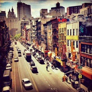 Over East Broadway - Lower East Side - New York City