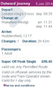 Kereta London - Huddersfield