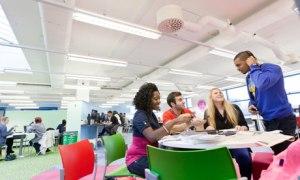 Students at London South Bank University