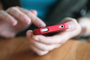 using-smartphone