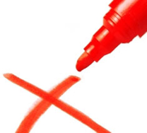 tinta merah