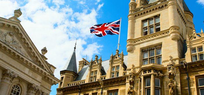 Cambridge with UK flag