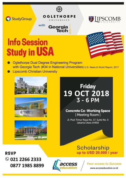 Info Session 19 Oct 2018 - Oglethorpe, Georgoa, Lipscomb
