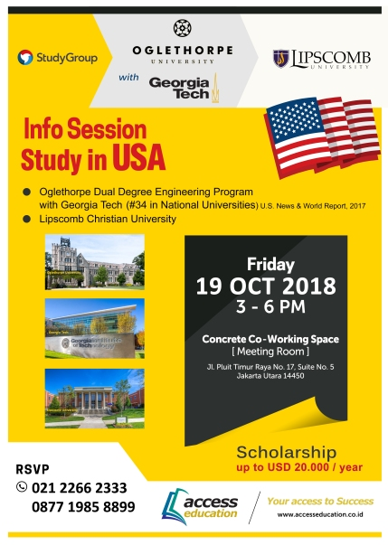 Info Session 19 Oct 2018 - Oglethorpe, Georgoa, Lipscomb